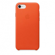 Кожаный чехол Apple Leather Case для iPhone 8/7 , цвет (Bright Orange) MRG82ZM/A