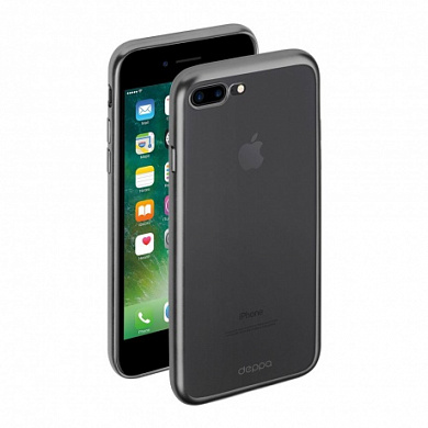 Чехол Deppa Gel Plus Case матовый для Apple iPhone 7 Plus графит